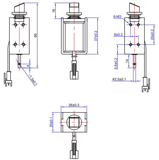 0837电控锁尺寸图