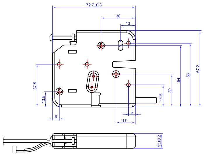 7359电控锁尺寸图